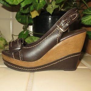 Brown Platform Sandals - Size 5.5